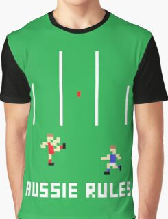 Aussie Rules Pixel Graphic T-Shirt