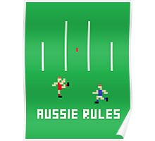 Aussie Rules Pixel Poster