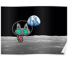 Cat On The Moon Poster
