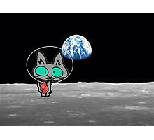 Cat On The Moon Photographic Print