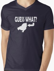 Guess What Mens V-Neck T-Shirt