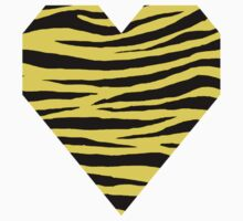 0034 Banana Yellow Tiger One Piece - Short Sleeve