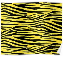 0034 Banana Yellow Tiger Poster