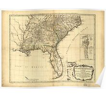 American Revolutionary War Era Maps 1750-1786 049 A general map of the middle British colonies in America 16 Poster