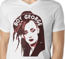 Boy George T-Shirt  Mens V-Neck T-Shirt