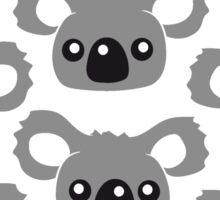 sweet little cute koala head face pattern design Sticker