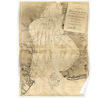 American Revolutionary War Era Maps 1750-1786 002 A chart of Delawar Bay with soundings and nautical observations Poster