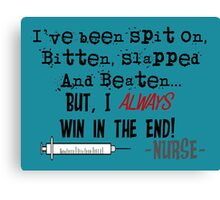Hilarious Nurse Quote Canvas Print