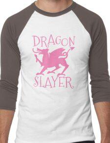 Dragon Slayer in pink Men's Baseball ¾ T-Shirt