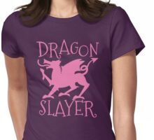 Dragon Slayer in pink Womens Fitted T-Shirt