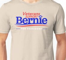 Veterans Support Bernie For President Unisex T-Shirt
