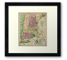 American Revolutionary War Era Maps 1750-1786 346 Bowles's new pocket map of the most inhabited part of New England comprehending the provinces of Framed Print