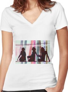 Body Language 22 Women's Fitted V-Neck T-Shirt