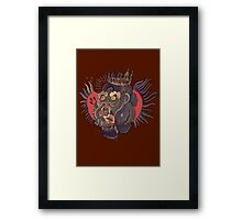 Conor Mcgregor Gorilla Tattoo (brown) Framed Print