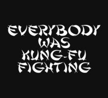 Everybody Was Kung-Fu Fighting T-Shirt Sticker One Piece - Short Sleeve
