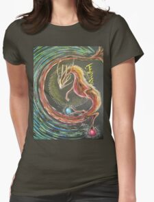 DRAGON - FIRE ELEMENT Womens Fitted T-Shirt