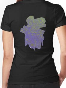 tranquil elephant 'Earthy effect Women's Fitted V-Neck T-Shirt