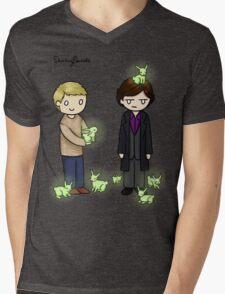 Little Bluebells Mens V-Neck T-Shirt