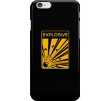 Explosive Warning Sign iPhone Case/Skin