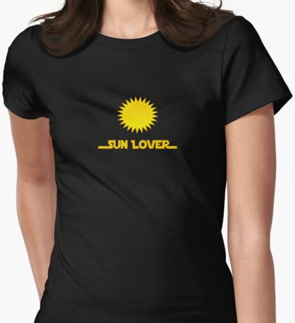 Renewable Energy - Sun Lover T-Shirt Decal Womens Fitted T-Shirt
