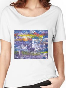 The remembrance of past sorrows is joyful - Original Wall Modern Abstract Art Painting Women's Relaxed Fit T-Shirt