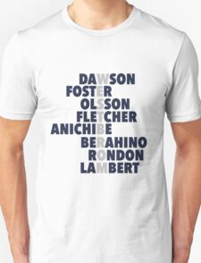 West Brom spelt using players names Unisex T-Shirt