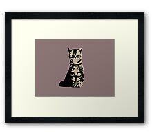 Kitty Cat (Brown) Framed Print