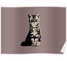 Kitty Cat (Brown) Poster