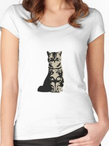 Kitty Cat (Brown) Women's Fitted Scoop T-Shirt