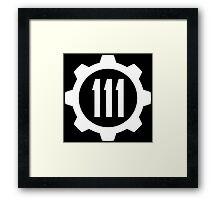 Fallout 4 Vault 111 logo Framed Print