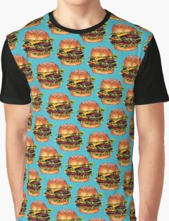 Double Cheeseburger 2 Pattern Graphic T-Shirt