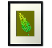 Ombre Flow! (Yellow/Green) Framed Print