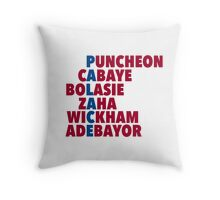 Palace spelt using player names Throw Pillow