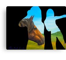 Horse Outside Canvas Print
