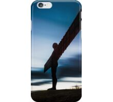 Angel of the north after sunset iPhone Case/Skin