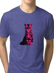 Kitty Cat (Pink) Tri-blend T-Shirt