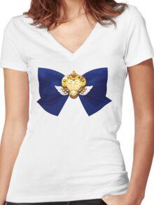 Sailor Moon - Eternal Moon (ribbon edit.) Women's Fitted V-Neck T-Shirt