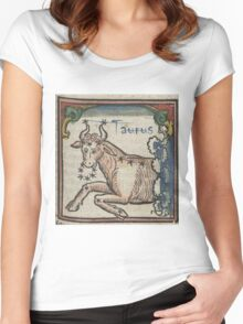 Taurus 16th Century Woodcut Women's Fitted Scoop T-Shirt