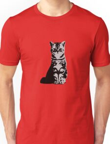 Kitty Cat (Grey) Unisex T-Shirt