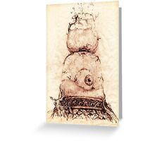 TIME SEES EVERYTHING Greeting Card