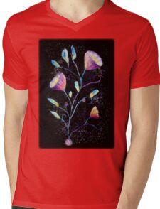 Mystical purple flowers Mens V-Neck T-Shirt