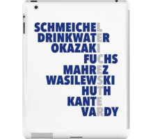 2015/16 Premier League Champions: Leicester player names iPad Case/Skin