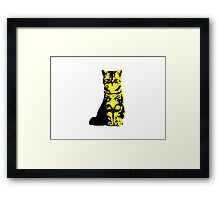Kitty Cat (Yellow) Framed Print