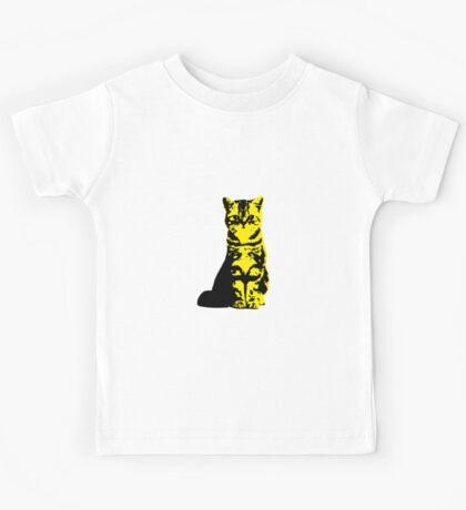 Kitty Cat (Yellow) Kids Tee