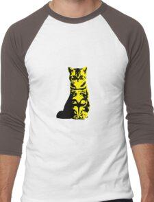 Kitty Cat (Yellow) Men's Baseball ¾ T-Shirt