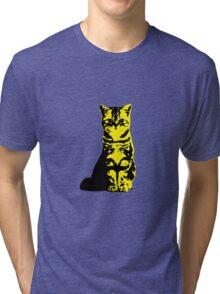 Kitty Cat (Yellow) Tri-blend T-Shirt