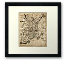 American Revolutionary War Era Maps 1750-1786 343 Bowles's map of the seat of war in New England Comprehending the provinces of Massachusets Bay and New Framed Print