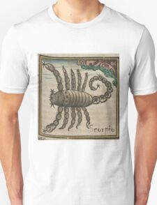 Scorpio 16th Century Woodcut Unisex T-Shirt