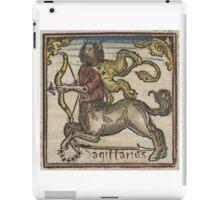 Sagittarius Woodcut 16th Century iPad Case/Skin