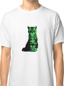 Kitty Cat (Green) Classic T-Shirt